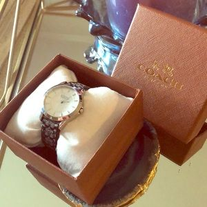 Classic Leather Strap Coach Watch